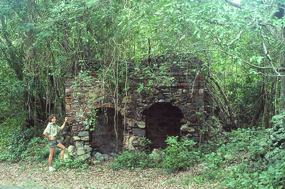 Twink and oven ruins, once used in the production of bay rum.   Cinnamon Bay, St. John Island, US Virgin islands.  1979