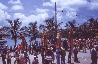 Parade.  Port of Princess, St. John island, US Vergin islands.  1979