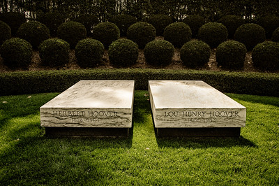 The Graves of President and Mrs. Hoover - West Branch, Iowa