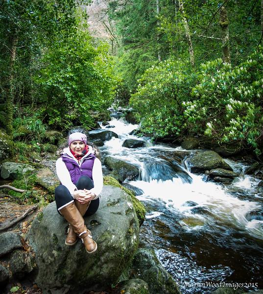 Gayle at Torc Waterfall