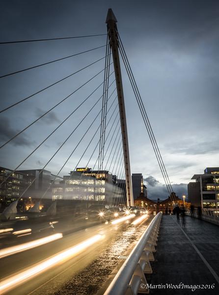 Samuel Beckett Bridge, Dublin - Rush Hour