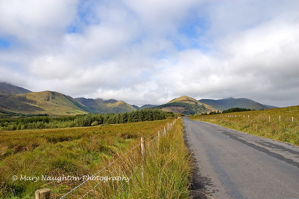Connemara road, County Galway, Ireland