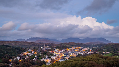 Overlooking Clifden at dusk