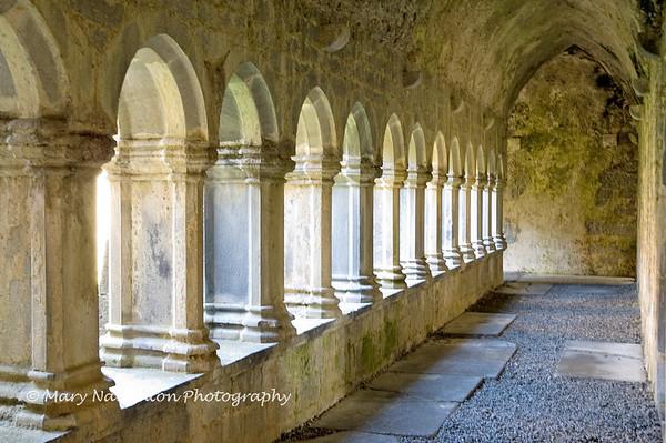 Quin Abbey Hallway, County Clare, Ireland