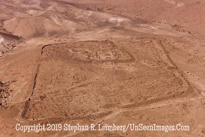 Roman Encampment as Seen From Massada web