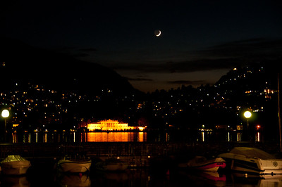 Our last night at Lake Como.