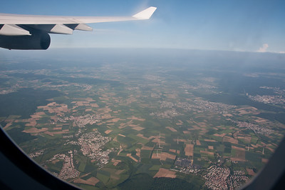 Flight home from Italy, near Frankfurt.