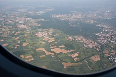 Flight home from Italy, near Frankfurt.