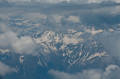 In flight from Milan to Frankfurt.
