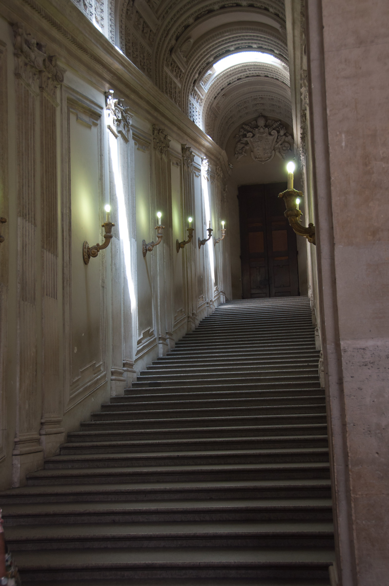 Hallway leading to the Sistine Chapel.