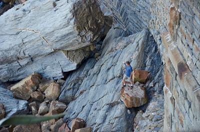 Just below the Via Dell'Amore near Manarola, Cinque Terre.