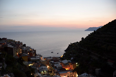 Manarola, Cinque Terre  just after sunset.