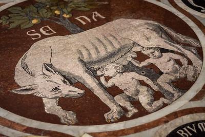 Mosaikfussboden im Dom von Siena / Mosaic floor in the cathedral of Siena