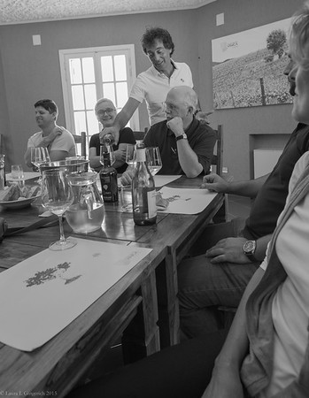 What was going to be a short lunch turned into the beginning of our wine adventure.  The pros on this trip were eager to learn everything they could from each and every vineyard we visited. Here, Rodolfo Gianserra, proudly pours a refreshing white while explaining how VINICA came to be.