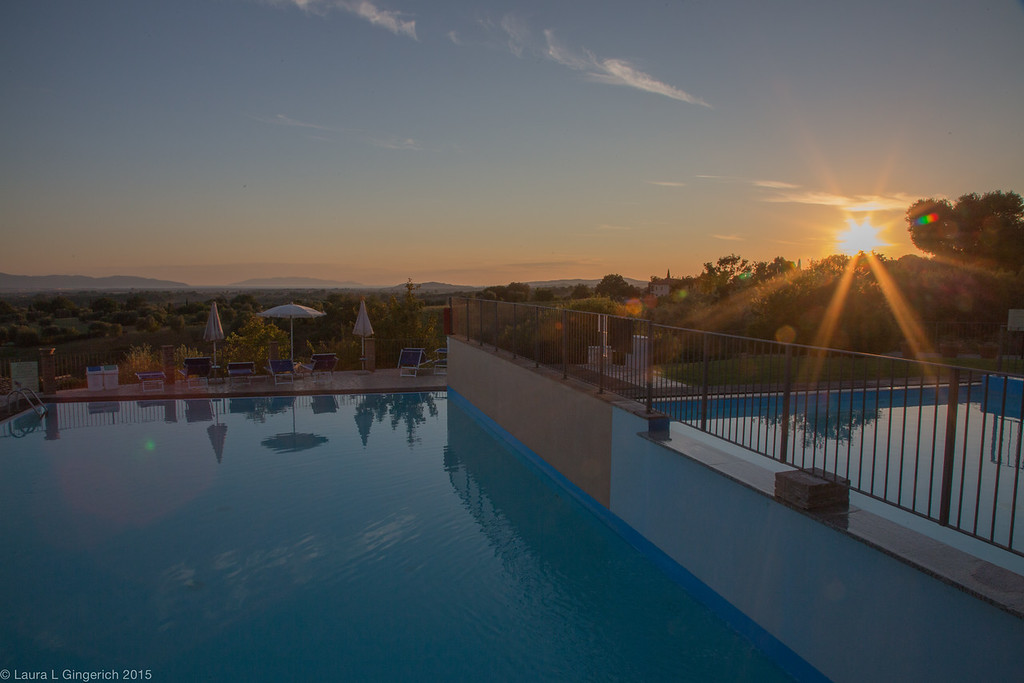 We left our friends at La Salceta and arrive at the Resort Borgo Magliano in Tuscany just as the sun was setting.