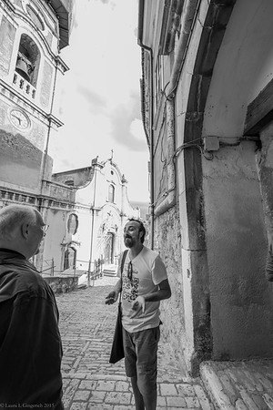 Here, Johnny explains to Craig that we are going into the castle where he lives.  Of course.