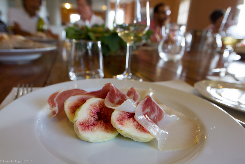 Figs and prociutto...simple, elegant, perfect. Pinch me.