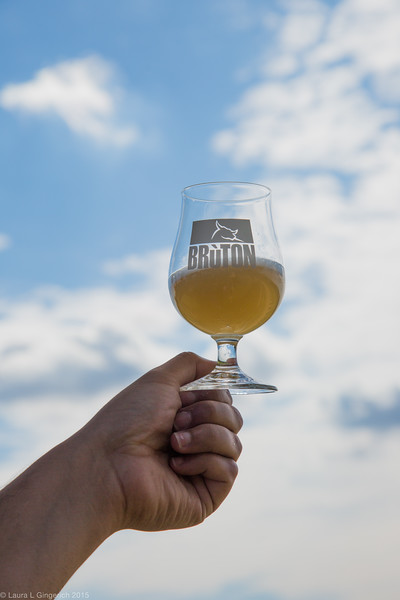 """Agostino wastes no time to offer all a taste of """"Bruton"""", a light and refreshing craft beer made in the region by his son Locopo."""