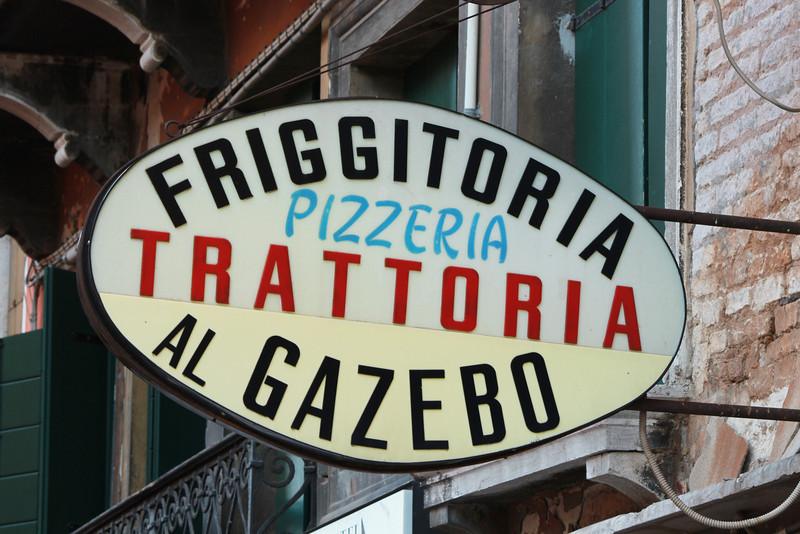 Italy, Venice, Friggitoria Sign