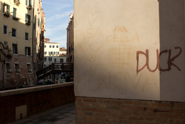 Italy, Venice, Canal and Graffiti (haven't got that yet) SNM