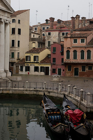 Italy, Venice, Gondolas and Buildings SNM