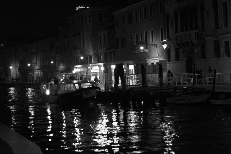 Italy, Venice SNM, Canal at Night