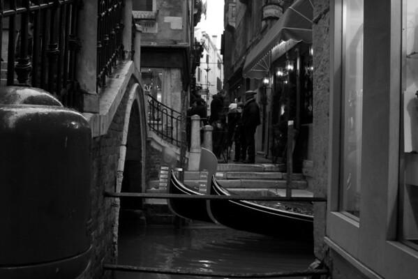 Italy, Venice, Gondola and Bridge SNM