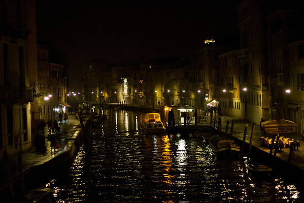 Italy, Venice, Canal at Night SNM