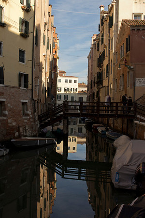 Italy, Venice, Canal with Reflections SNM