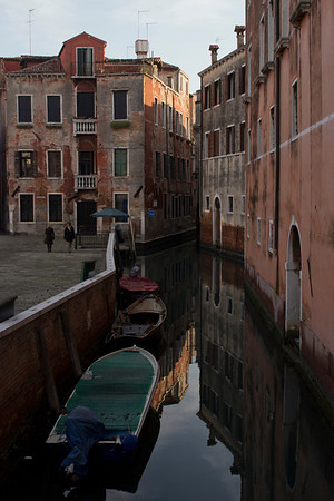Italy, Venice, Canal and Boats SNM