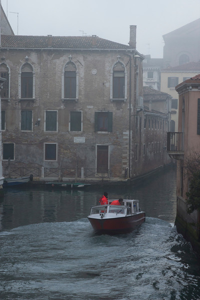 Italy, Venice, Canal and Boat SNM
