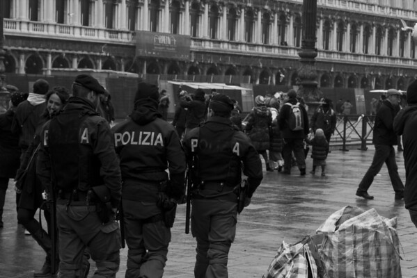 Italy, Venice, Police in San Marco's Square SNM