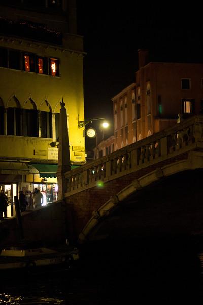 Italy, Venice, Bridge at Night SNM