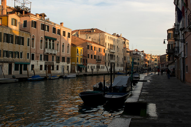 Italy, Venice, Canal Boats and Buildings SNM
