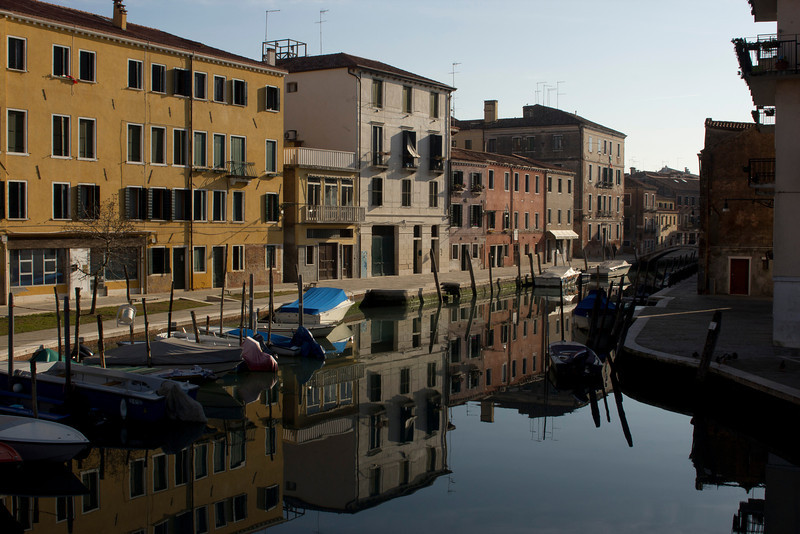 Italy, Venice, Canal and Reflections SNM