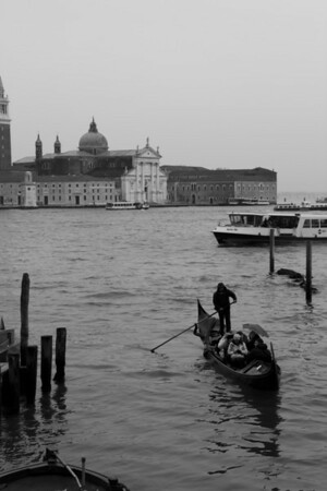 Italy, Venice, Gondola and Building SNM