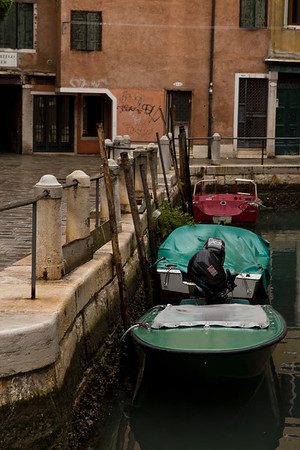 Italy, Venice, Boats and Path SNM