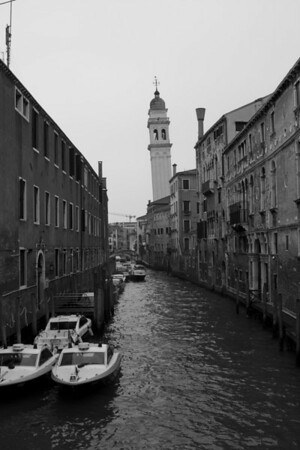 Italy, Venice, Canal and Tower SNM