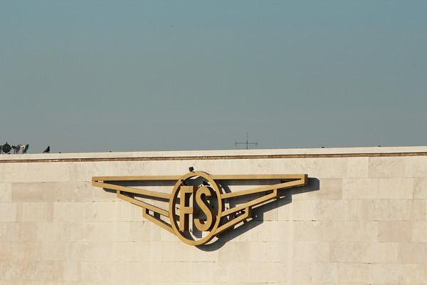 Italy, Venice, Ferrovie dello Stato Symbol