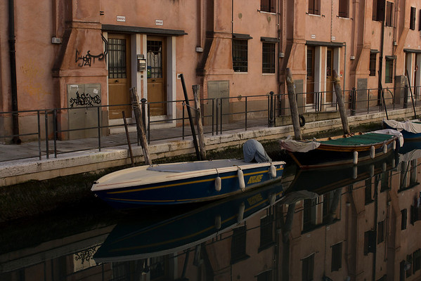 Italy, Venice, Boat and Canal SNM