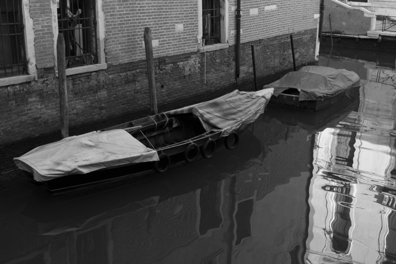 Italy, Venice, Boat and Reflection SNM