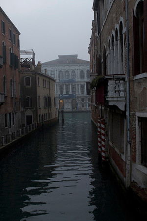 Italy, Venice, Canal in Fog SNM