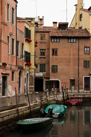 Italy, Venice, Boats and Buildings SNM