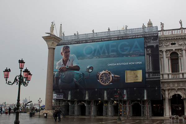 Italy, Venice, Advertisement in the Square SNM