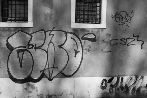 Italy, Venice, Graffiti on Wall SNM