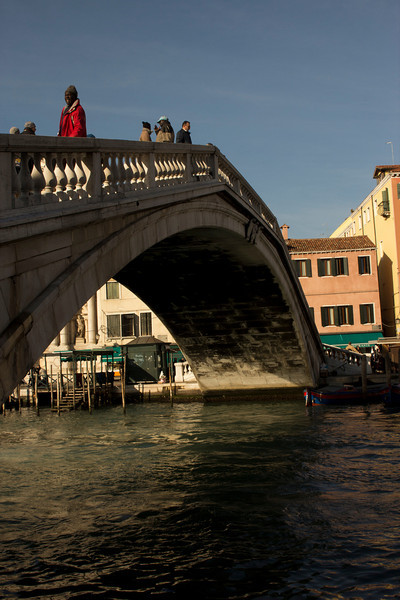 Italy, Venice, Bridge Over Canal (a rare sight in Venice) SNM