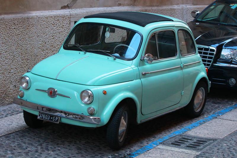 Italy, Verona, Fiat Nuova 500