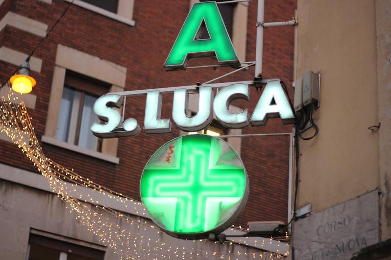 Italy, Verona, Pharmacy Neon Sign