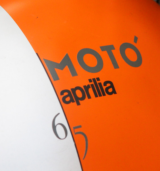 Italy, Verona, Motorbike Fuel Tank Branding Sign