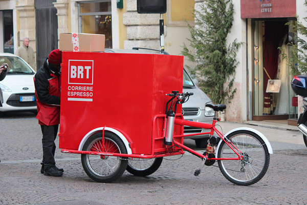 Italy, Verona, Coffee Delivery Bicycle
